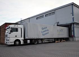 Material transport between halls and factories